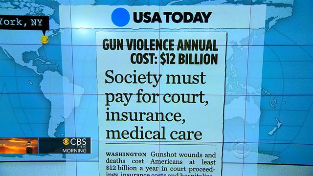 Headlines: Gunshot wounds drive up health care costs