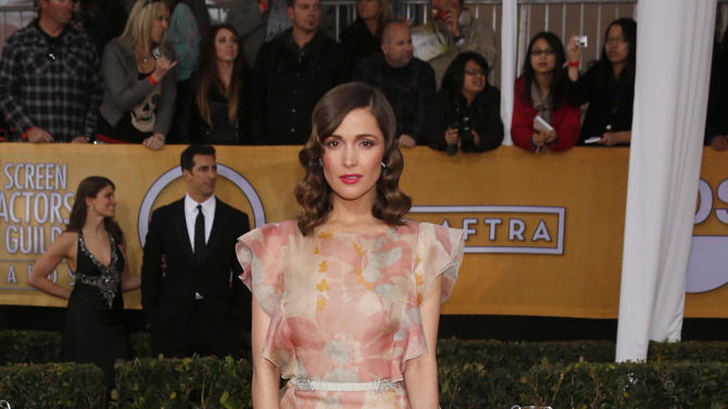 Rose Byrne arrives at the 19th Annual Screen Actors Guild Awards at the Shrine Auditorium in Los Angeles on Sunday Jan. 27, 2013. (Photo by Todd Williamson/Invision for The Hollywood Reporter/AP Images)