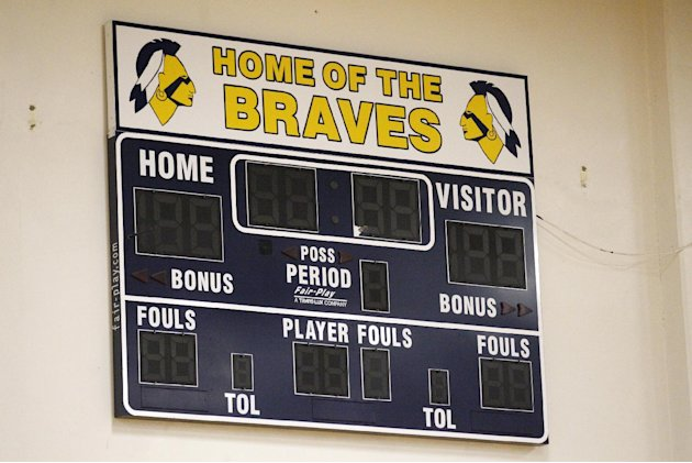The Banks High School score board is shown on the wall of their gym Wednesday, May 16, 2012, in Banks, Ore. The Oregon Board of Education is scheduled to vote on a resolution that would require Oregon