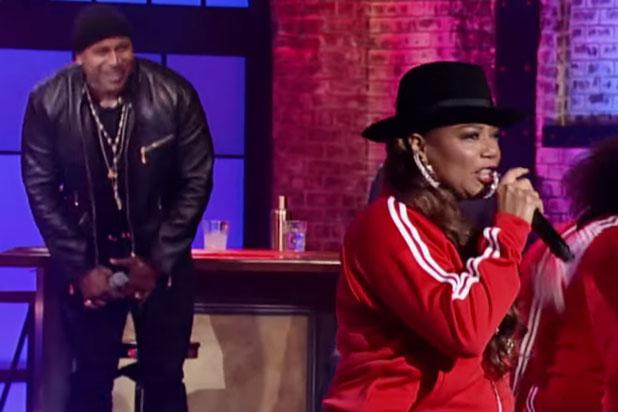 Queen Latifah Crushes LL Cool J's 'Rock the Bells' in New 'Lip Sync Battle' Clip (Video)
