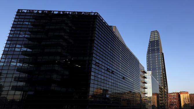 Buildings of Porta Nuova's new district are seen in Milan