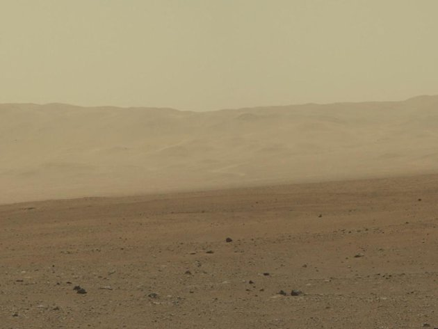 This image provided by NASA shows a high-resolution 360-degree color panorama of Gale Crater taken by the Curiosity rover, which landed on Mars on August 5, 2012. A low-quality version was released ea