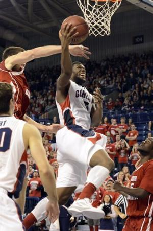 No. 19 Gonzaga too much for South Dakota 96-58