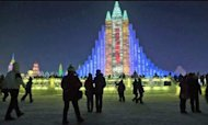 China Ice City: Frozen Sculptures Light Up Sky