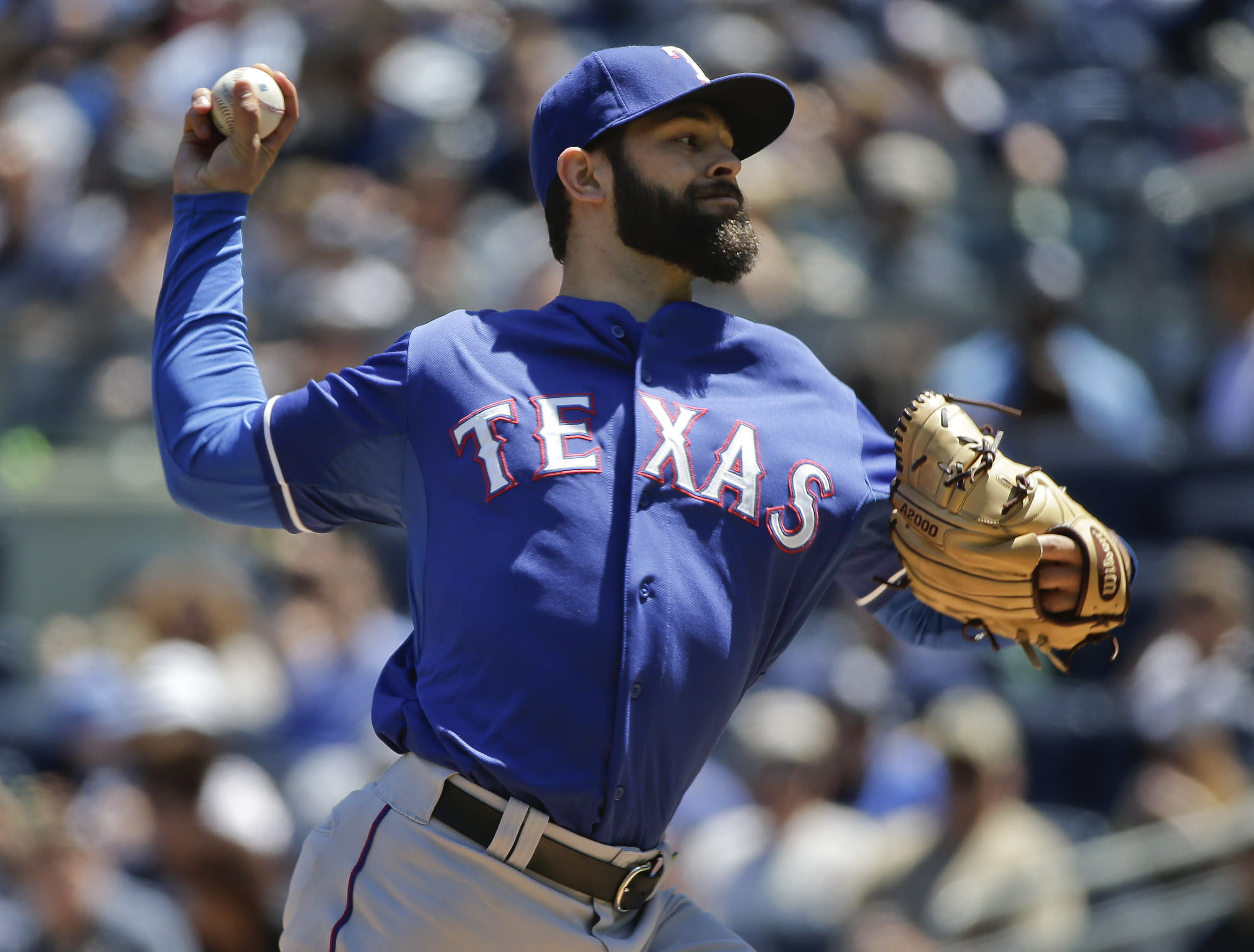Bronx bleachers to mound: Martinez leads Rangers to 15-4 win