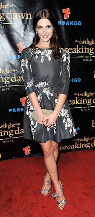 Ashley Greene kicks off Twilight Breaking Dawn - Part 2 promo tour in Oscar de la Renta