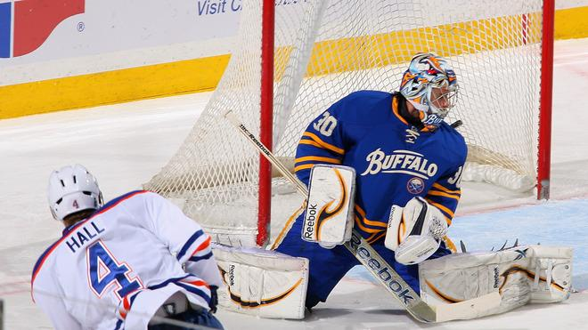 Taylor Hall #4 Of The Edmonton Oilers Scores Getty Images
