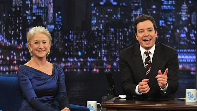 """Helen Mirren Visits """"Late Night With Jimmy Fallon"""""""