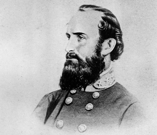 "FILE - This undated file photo shows a drawing of Thomas Jonathan ""Stonewall"" Jackson, the Confederate general during the American Civil War, 1861-65. On Friday, May 10, 2013, the 150th anniversary of Jackson's death, a trauma surgeon with experience on the battlefield in Iraq and Afghanistan has reinvestigated the medical record to offer a diagnosis of Jackson's death. University of Maryland surgeon Joseph DuBose says Jackson likely died of pneumonia. He is confirming the diagnosis given by Jackson's physician, the famed Confederate doctor Hunter McGuire. (AP Photo/File)"