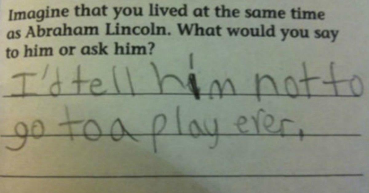 11 Wrong Test  Answers That Are Genius
