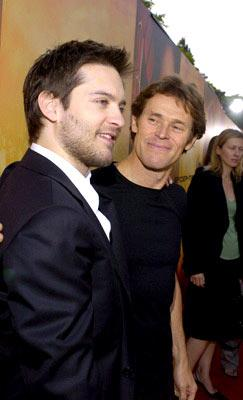 Tobey Maguire and Willem Dafoe at the Los Angeles premiere of Columbia Pictures' Spider-Man 2