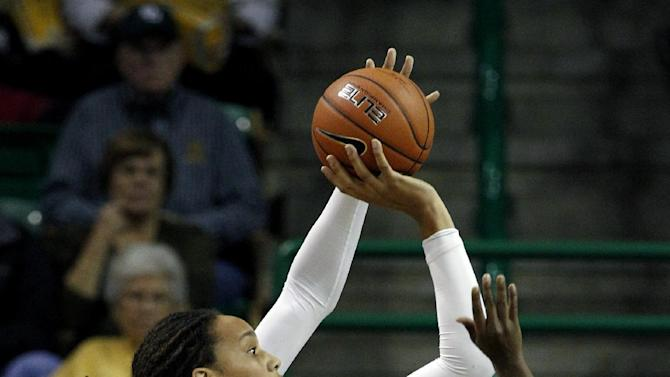 Baylor's Brittney Griner (42) shoots over Kentucky's Samarie Walker (23) during the first half of an NCAA women's college basketball game, Tuesday, Nov. 13, 2012, in Waco, Texas. (AP Photo/Tony Gutierrez)