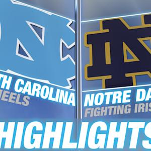 North Carolina vs Notre Dame | 2015 ACC Men's Lacrosse Highlights