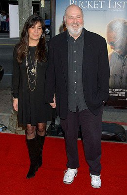 Director Rob Reiner and wife at the Los Angeles premiere of Warner Bros. Pictures' The Bucket List