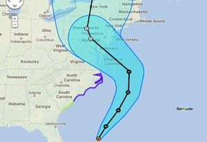 Map of Hurricane Sandy's path | Photo Credits: npr.com