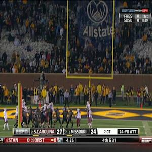 Missouri - Missed Field Goal in 2OT vs South Carolina
