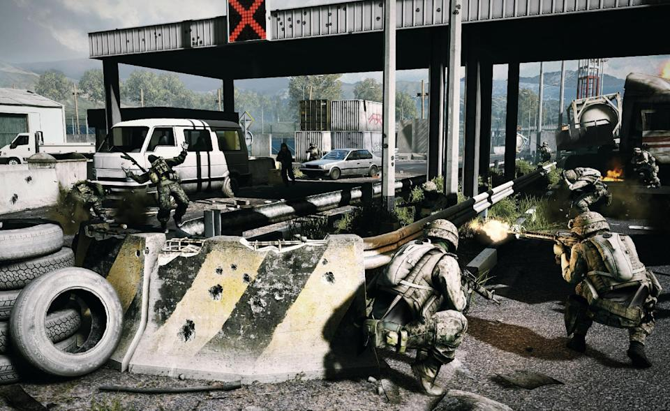 "This undated publicity photo released by DICE/Electronic Arts shows a scene from the video game, ""Battlefield 3.""  (AP Photo/DICE/Electronic Arts)"
