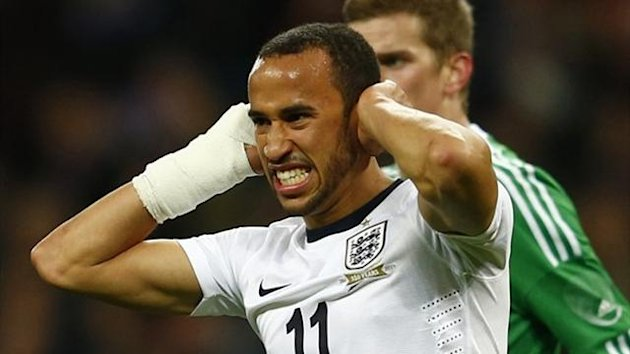 Andros Townsend during England's friendly against Germany (Reuters)