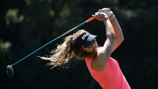 Alison Lee tees off the 2nd hole during Round Three of the LPGA KIA Classic at the Aviara Golf Club on March 28, 2015 in Carlsbad, California
