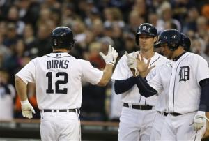 Dirks hits grand slam, Tigers beat Astros 7-2