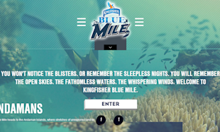 Kingfisher Blue Mile Engages Adventure Seekers Through Social Media image Kingfisher blue mile microsite