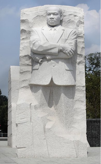 The Rev. Martin Luther King Jr. Memorial is seen on the National Mall in Washington Sunday, Aug., 21, 2011. The memorial to the late civil rights leader is scheduled to be dedicated later this week. (