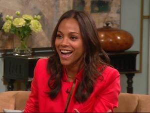Zoe Saldana stops by Access Hollywood Live on August 26, 2011 -- Access Hollywood