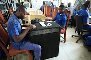 Apprentices working at the Apostle Safo Technology …