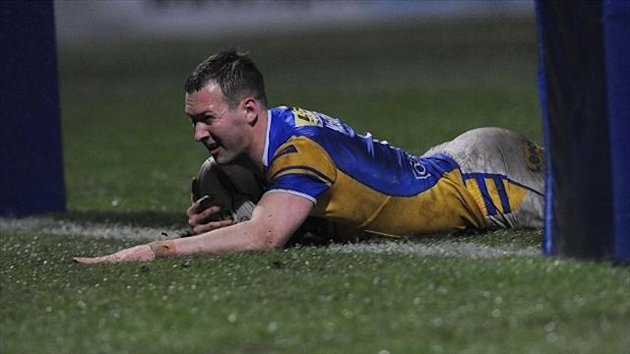 Danny McGuire broke his leg while playing against Hull in May
