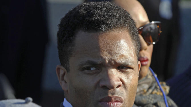 FILE - In this Oct. 16, 2011 file photo, Rep. Jesse Jackson, Jr., D-Ill., is seen during the dedication of the Martin Luther King Jr. Memorial in Washington. With the Nov. 6, 2012 election just three weeks away, the unflattering news about U.S. Rep. Jesse Jackson, Jr., has reached a point that would send most politicians into full crisis communications mode. Yet the Jackson camp maintains the same, often baffling approach to both the media and the voters he is asking to re-elect him to a ninth term: virtual silence. Jackson has kept quiet and out of sight as he convalesces at his Washington home following a diagnosis of bipolar disorder.  (AP Photo/Charles Dharapak, File)