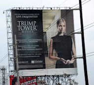 <p>A Trump Tower advertisement is seen being displayed on a roadside billboard in Manila. As a Philippine property boom gathers pace, even Paris Hilton, Donald Trump and high-fashion house Versace are getting a piece of the action.</p>