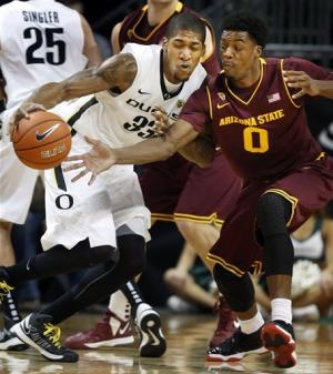 Oregon defeats Arizona State 68-65