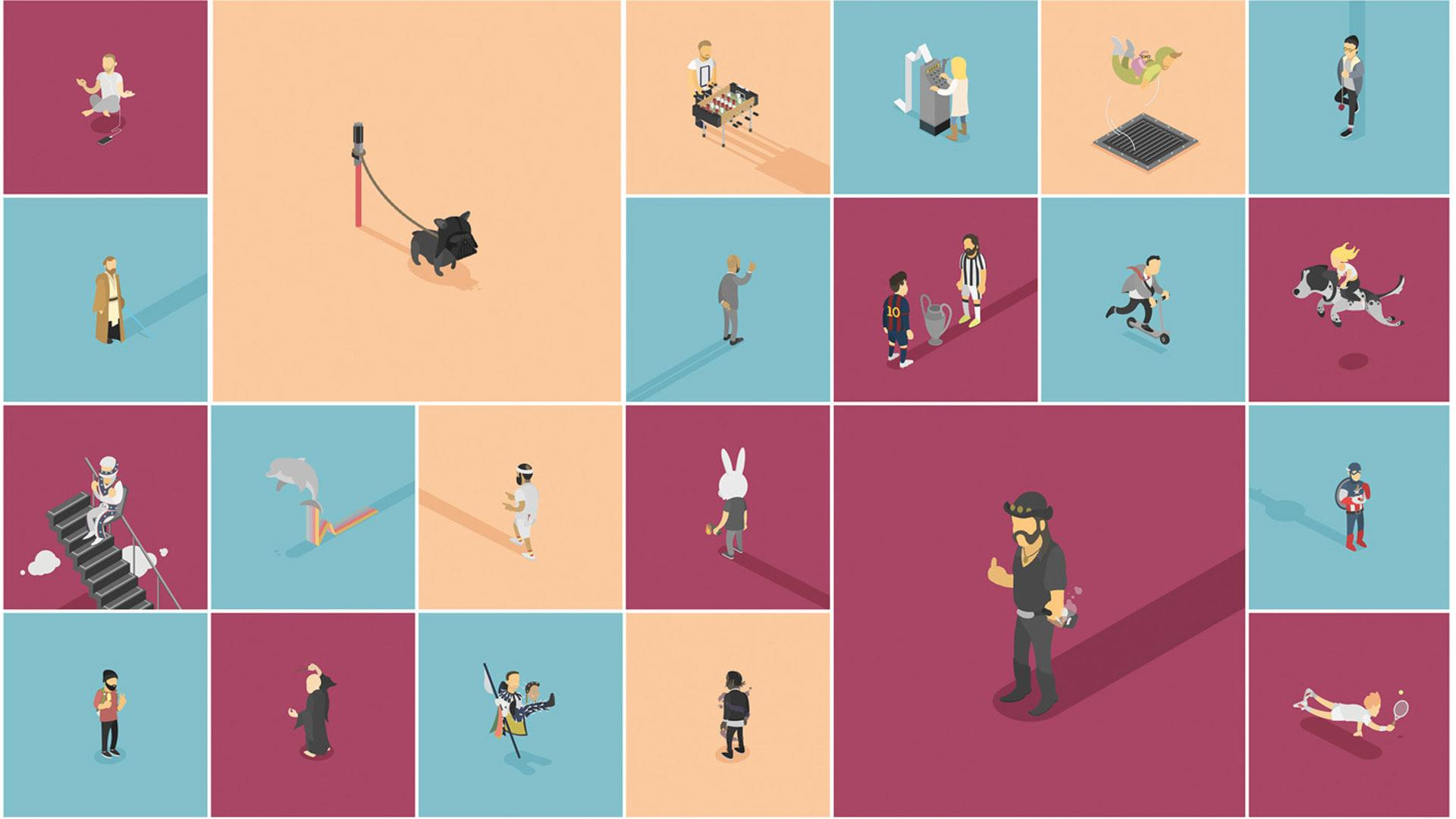 Minimally cute character designs infiltrate Instagram