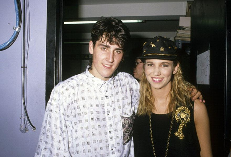 Hanging out with Jonathan Knight in 1989