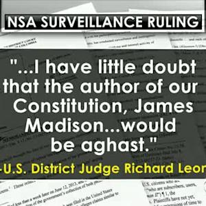 NSA phone data collection likely unconstitutional, judge rules