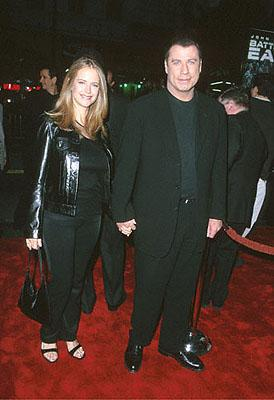 Kelly Preston and John Travolta at the Mann's Chinese Theater premiere of Warner Brothers' Battlefield Earth