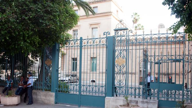 Outside view of the French embassy in Tunis, Tunisia, Wednesday, Sept. 19, 2012. A French magazine published vulgar caricatures of the Prophet Muhammad on Wednesday, inflaming global tensions over a movie insulting to Islam. In response, the French government  ordered the immediate closure of the French Embassy and the French school in Tunisia, which saw deadly film-related protests at the U.S. Embassy last Friday. (AP Photo/Amine Landoulsi)