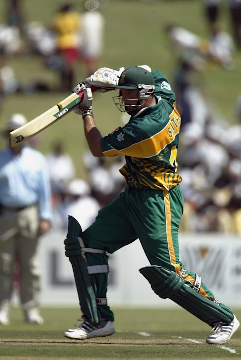 Graeme Smith of South Africa in action
