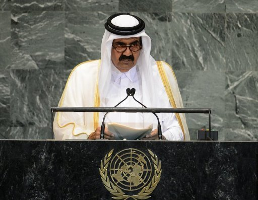 Qatari Emir Sheikh Hamad bin Khalifa al-Thani, pictured in September 2012, is to travel to Gaza on Tuesday in the first such visit by an Arab leader since Hamas took over in 2007, a news agency close to the ruling Islamist movement said