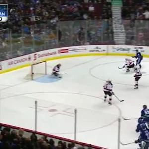 Cory Schneider Save on Jannik Hansen (02:21/1st)
