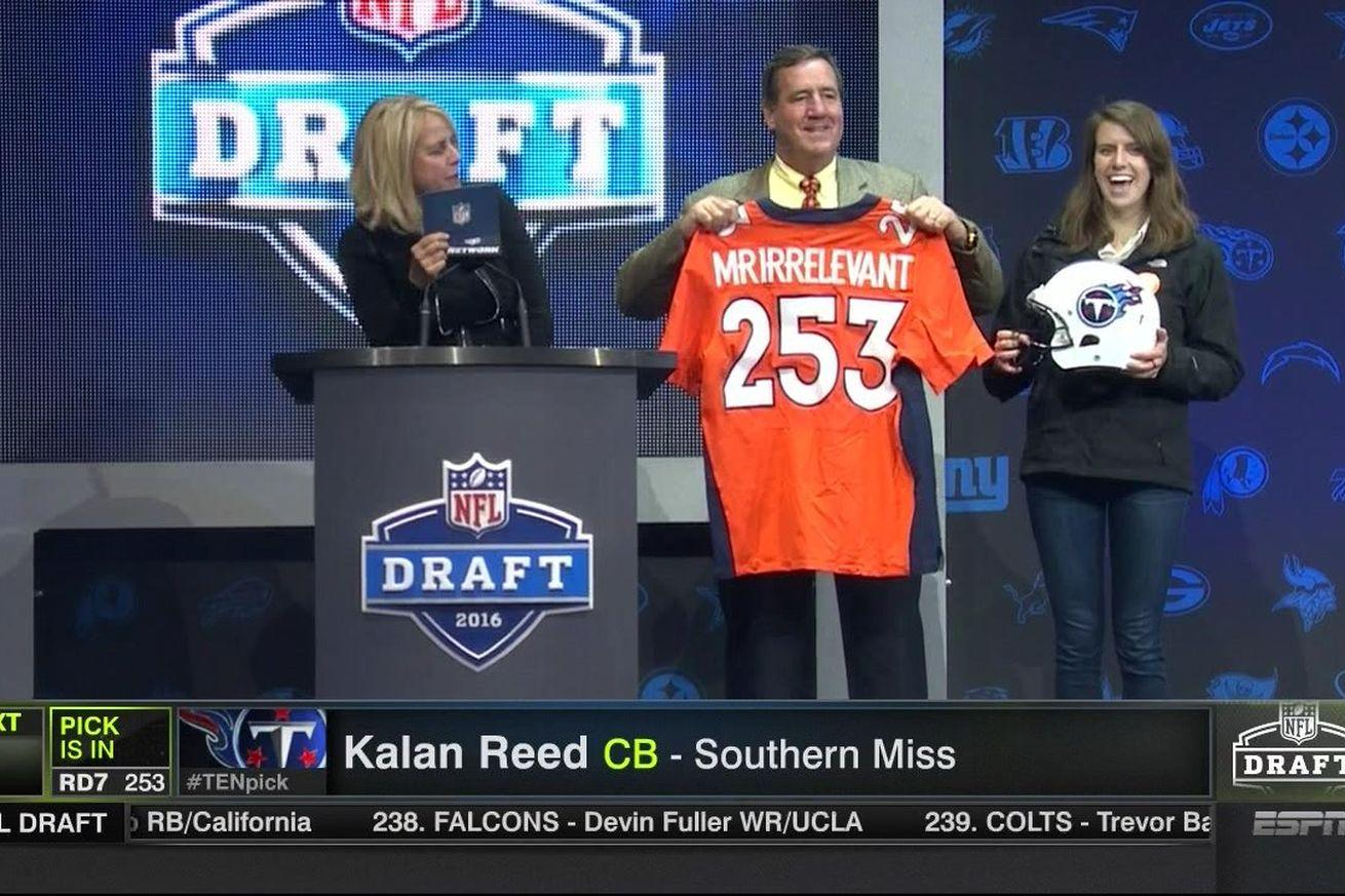The Titans traded for Mr. Irrelevant and it threw off the end of the NFL Draft