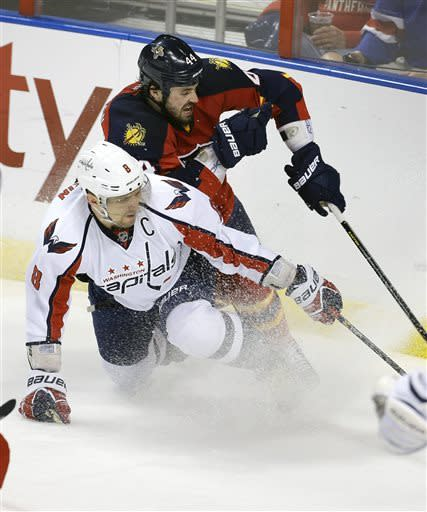 Ovechkin leads Capitals over Panthers, 4-3