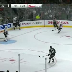 Dustin Brown Hit on Michal Rozsival (12:31/1st)