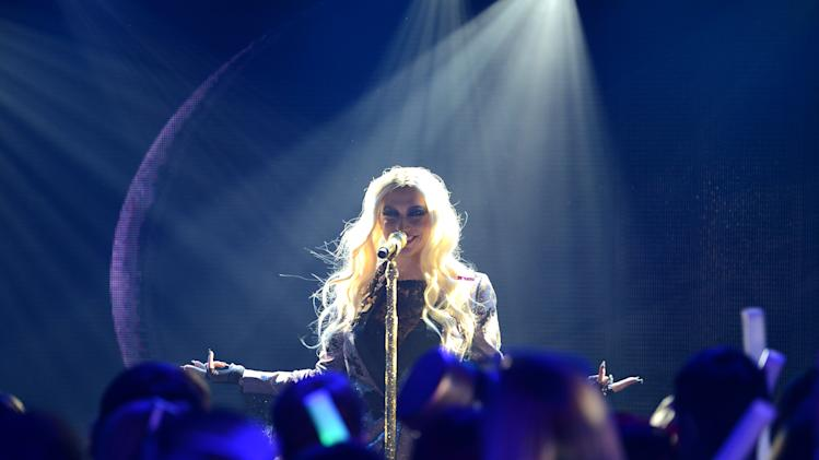 "Ke$ha performs during ""MTV's Club NYE 2013"" at the MTV Times Square Studios on Monday, Dec. 31, 2012 in New York.(Photo by Scott Gries/Invision for MTV/AP Images)"