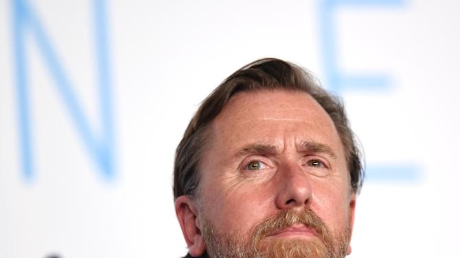 """British actor Tim Roth attends a press conference for the film """"Chronic"""" at the 68th Cannes Film Festival in Cannes, southeastern France on May 22, 2015"""