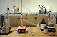 "File picture shows a mock ""ecstasy"" lab for teaching purposes at the DEA Training Academy in Quantico, Virginia. The US government is training anti-drug specialists in Ghana and plans to do the same in Nigeria and Kenya to counter Latin American cartels smuggling drugs through Africa to Europe, The New York Times reported"