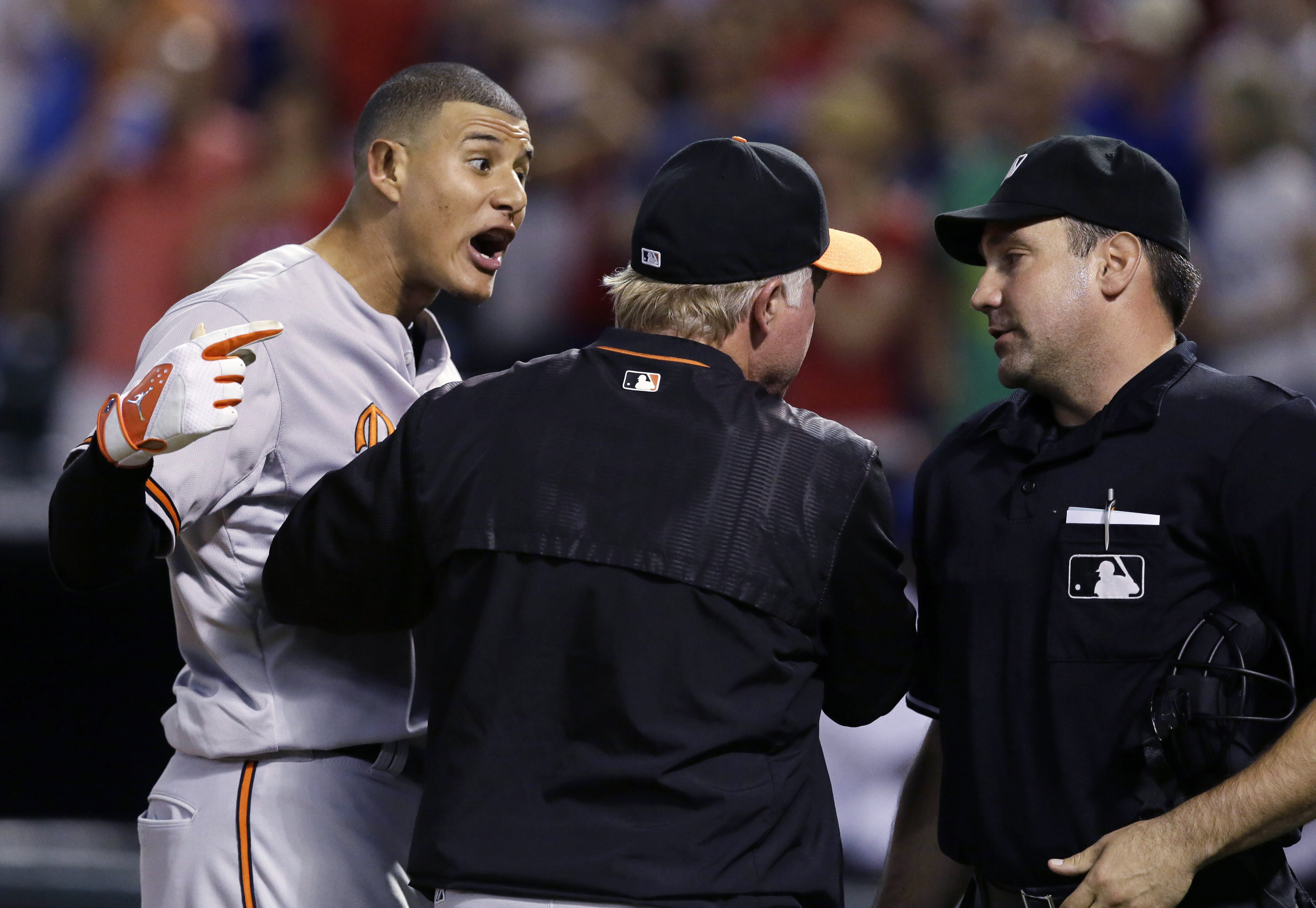 Machado angry at checked swing call in Orioles loss