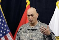 U.S. General Ray Odierno speaks during a news conference in Baghdad, November 18, 2009. REUTERS/Saad Shalash/Files