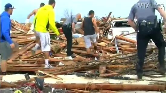 Local relief rushes to tornado disaster sites