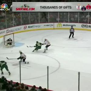 Niklas Svedberg Save on Zach Parise (09:58/1st)
